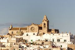 Panoramic view of the white village of Ostuni in Salento on the Adriatic sea. Salento is famous for its white villages and its seacoast with many wonderful royalty free stock photography