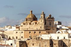 Panoramic view of the white village of Ostuni in Salento on the Adriatic sea. Salento is famous for its white villages and its seacoast with many wonderful royalty free stock photos