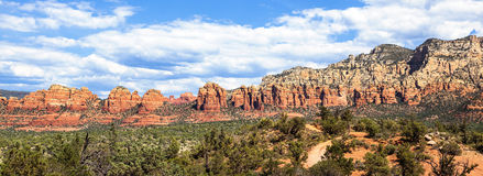 Panoramic view of wilderness landscape Royalty Free Stock Photo