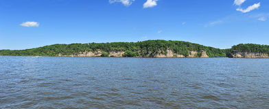 Panoramic View of the Winconsin Dells Stock Photo