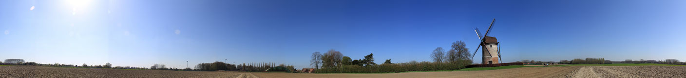 Panoramic view of windmill royalty free stock images