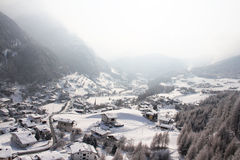 Panoramic view on winter Solden, Austria Stock Image