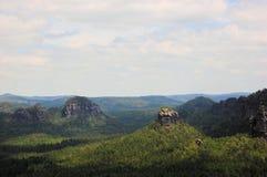 Panoramic view of Winterstein, Saxon Switzerland Stock Images