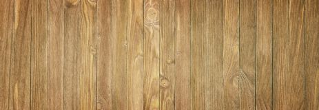 Panoramic view of a wooden table, wood texture close-up stock photography