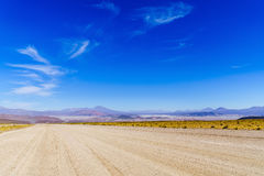Panoramic view of The World Largest Salt Flats Stock Photo