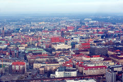 Panoramic view of Wroclaw Stock Photos