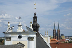 Panoramic view of Wroclaw Royalty Free Stock Photos