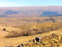 Panoramic view of Yacanto valley Royalty Free Stock Photos