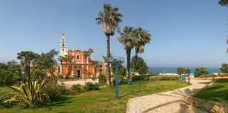Panoramic view of Yafo. royalty free stock photography