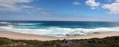 Panoramic View of Yallingup beach Stock Photography