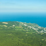 A panoramic view of Yalta city Royalty Free Stock Image