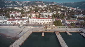 Panoramic View On Yalta Famous Resort stock footage