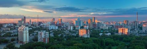 Panoramic view of Yeakaterinburg, Russia Stock Images