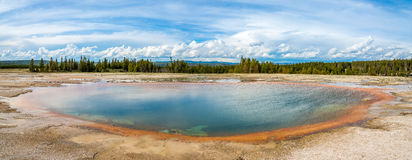 Panoramic view in Yellowstone National Park Royalty Free Stock Photography