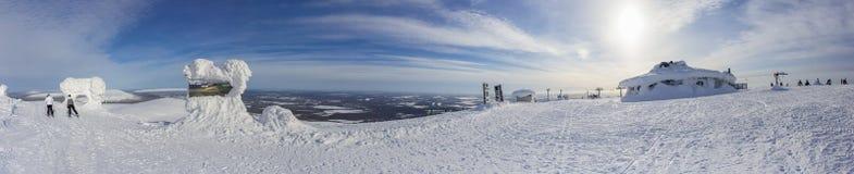 A panoramic view of Ylläs Royalty Free Stock Photos