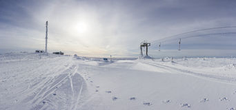 A panoramic view of Ylläs Royalty Free Stock Images
