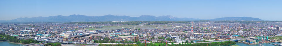 Panoramic view of Yokkaichi city Stock Photography