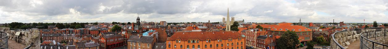 Panoramic view of York city center Royalty Free Stock Photography
