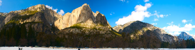 Panoramic view of Yosemite National Park Stock Photos