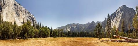 Panoramic view of Yosemite Valley, California Stock Photo