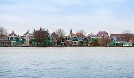 Panoramic view, Zaanse Schans, Netherlands Royalty Free Stock Photography