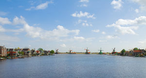 Panoramic view of  Zaanse Schans Stock Photos