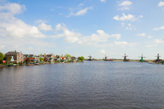 Panoramic view of  Zaanse Schans, Netherland Royalty Free Stock Photos