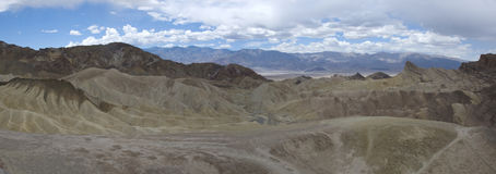 Panoramic view of Zabriskie Point in Death Valley, California Stock Photography