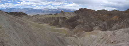 Panoramic view of Zabriskie Point in Death Valley, California Stock Photo