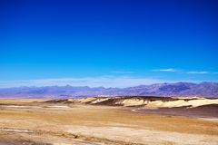Panoramic view from the Zabriskie point in Death Valley National Park in California stock image