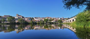 Panoramic view of Zamora in Spain. Royalty Free Stock Photos