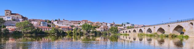 Panoramic view of Zamora in Spain. Royalty Free Stock Photo