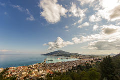 Panoramic view of zante island Stock Images