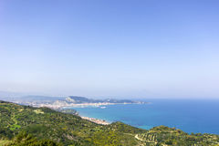 Panoramic view of zante island Royalty Free Stock Images