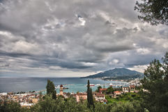 Panoramic view of zante island Royalty Free Stock Image