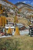 Panoramic view of Zermatt Resort, Canton of Valais, Switzerland Royalty Free Stock Image