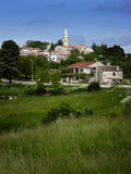 Panoramic view at Zminj,istrian village in Croatia Stock Images