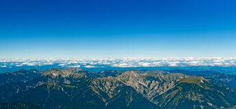 Panoramic View Zugspitze German Austrian Boarder Stock Images