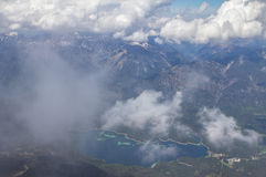 Panoramic view from the Zugspitze. Royalty Free Stock Images