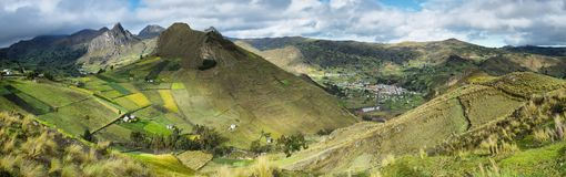 Panoramic view of Zumbahua Royalty Free Stock Photos
