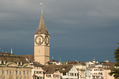 Panoramic view of Zurich Royalty Free Stock Photos