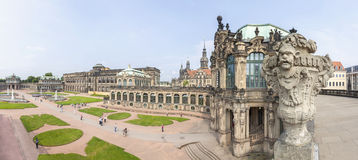 Panoramic view of Zwinger, Dresden Royalty Free Stock Photography