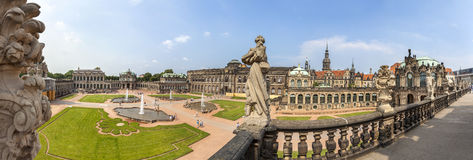 Panoramic view of Zwinger, Dresden Royalty Free Stock Image