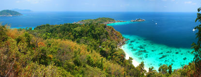 Panoramic Viewpoint of Similan Islands Stock Photos