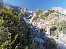 Panoramic views of Alpi Apuane Tuscany Italy Royalty Free Stock Photography