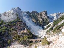 Panoramic views of Alpi Apuane Tuscany Italy Stock Photo