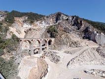 Panoramic views of Alpi Apuane Tuscany Italy Royalty Free Stock Photos