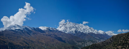 Panoramic views of the Annapurna Royalty Free Stock Image