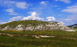Panoramic views of the chalk hills in the Don River valley. Stock Image