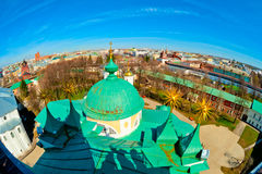 Panoramic views of the city and dome Royalty Free Stock Image